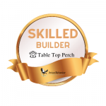 table top perch badge